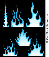 fuoco, modelli, set