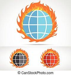 fuoco, mondo