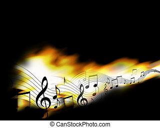 fuoco, musica, fondo