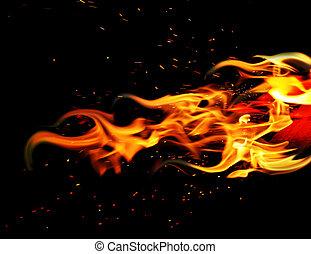 fuoco, nero