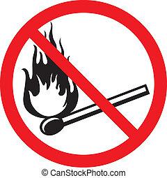 fuoco, no, segno