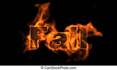 fuoco, parola, cadere