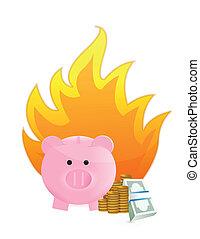 fuoco, risparmi