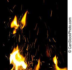 fuoco, scintille