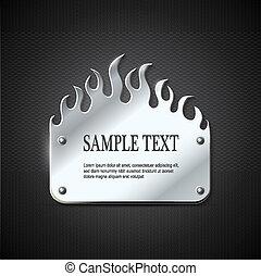 fuoco, segno metallo