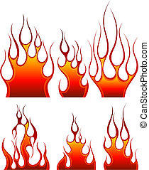 fuoco, set, icona