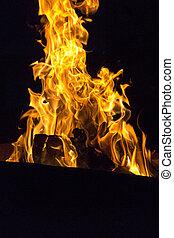 fuoco, simbolo, di, passione, e, amore