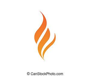 fuoco, simbolo, illustrazione