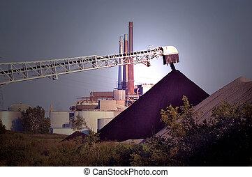 fuoco, su, carbone