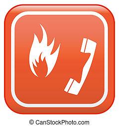 fuoco, telefono emergenza