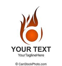 fuoco, text., redigere, colorare, facile, formato, logotipo, template., cambiamento, 3d