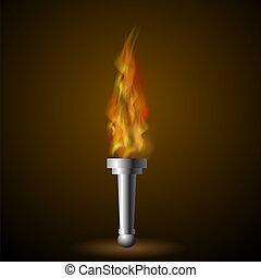 fuoco, torcia, fiamma, urente