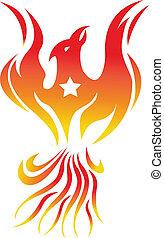 fuoco, uccello, phoenix