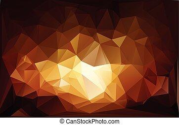fuoco, vivido, polygonal, mosaico, fondo, vettore, illustrazione, affari, disegnare sagome