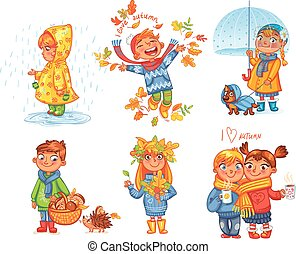 fuori, autumn., amore, passeggiata