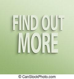 fuori, trovare, più