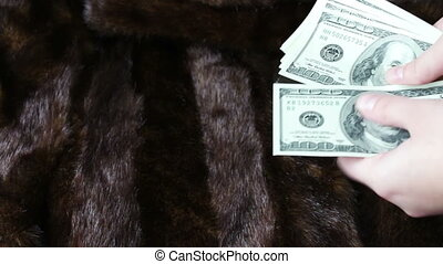 Fur coat and the hundred-dollar bills - Fur coat on which...