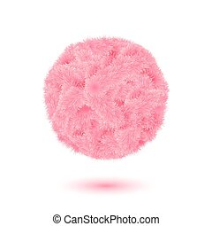 Fur concept label for Your Valentine design.