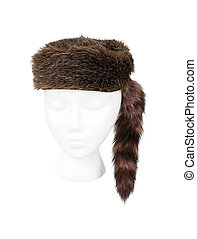 Fur Hunter Hat Isolated on White