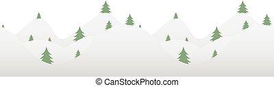 fur-tree, horizontal, seamless, hintergrund