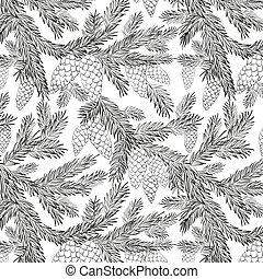 fur-tree, modèle, seamless