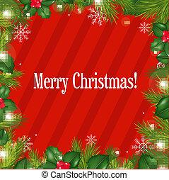 fur-tree, ränder, schneeflocken, weihnachten
