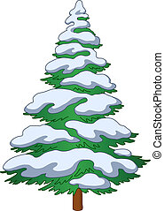 fur-tree, snö