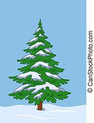 Fur-tree under the snow in snowdrift(117).jpg - Green...