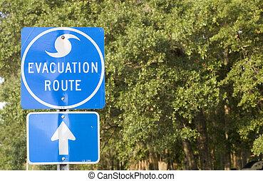 furacão, evacuação, rota