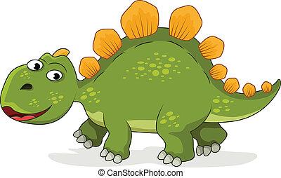 furcsa, dinoszaurusz, karikatúra
