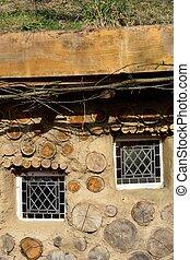 furcsa, hobbit, mód, épület, noha, windows
