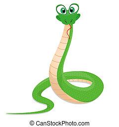 furcsa, kígyó, ábra
