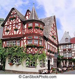 furcsa, német, épület