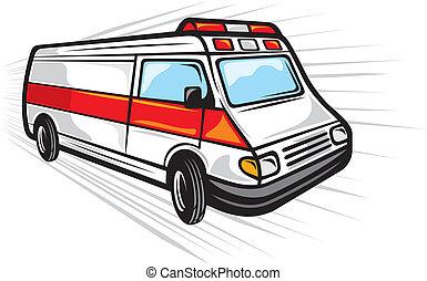 furgão, ambulância