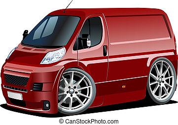 furgon, karikatúra