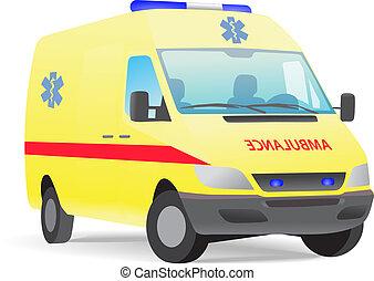 furgone, ambulanza