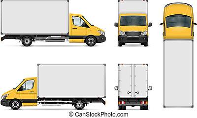 furgone consegna, sagoma