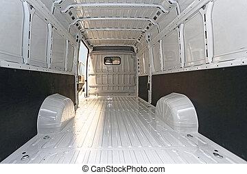 furgone consegna, vuoto
