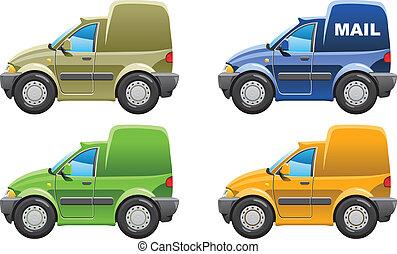 furgone, posta, furgone