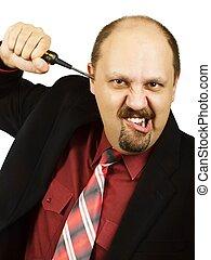 Furious businessman