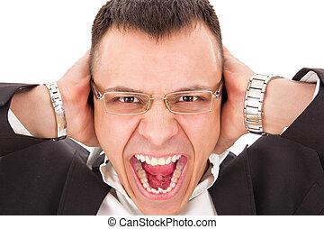 furious man yelling