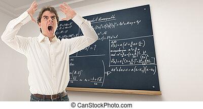 Furious maths teacher