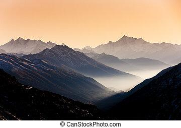 furkapass, andermatt, canton, suisse, graubunden, vue
