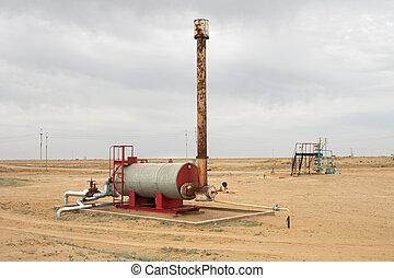 Furnace heating oil.