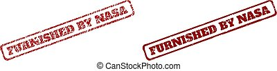 FURNISHED BY NASA Red Rough Rectangle Stamp Seals with Unclean Surfaces