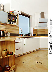 Furnished kitchen - Modern interior and details in european...