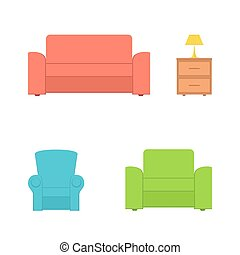 Furnishings - Set of furnishings isolated on white...