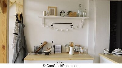 Furniture and dishware in kitchen - Various lovely...