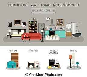 Furniture and home accessories banner. - Furniture and home...