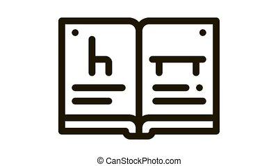 furniture catalog Icon Animation. black furniture catalog animated icon on white background